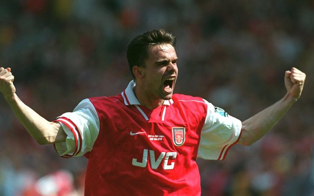 Marc Overmars during his Arsenal days