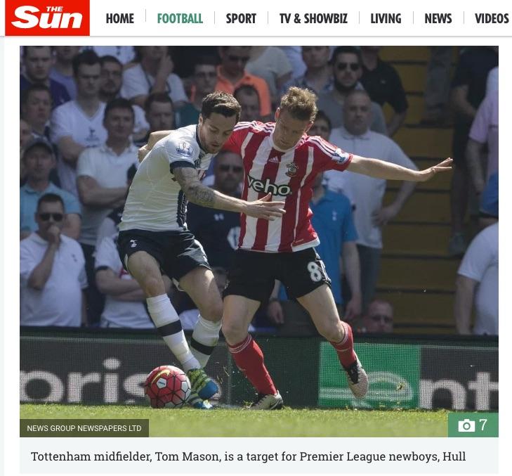 Tom Mason? The Sun sub-editor fail
