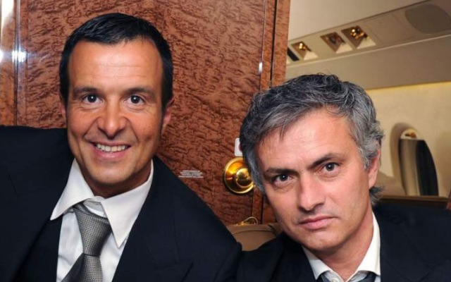 Agent Jorge Mendes with Jose Mourinho