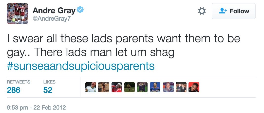 Andre Gray parenting advice tweet