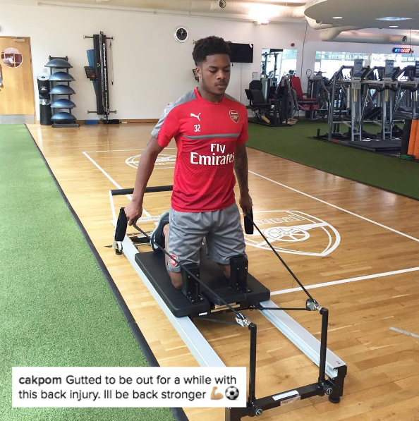 Chuba Akpom Insta post about injury