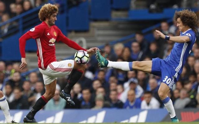 Ugly David Luiz tackle on Marouane Fellaini