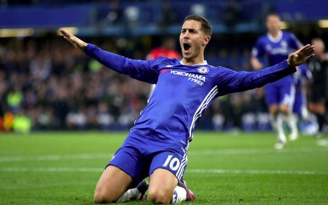 Eden Hazard goal celebration v Everton