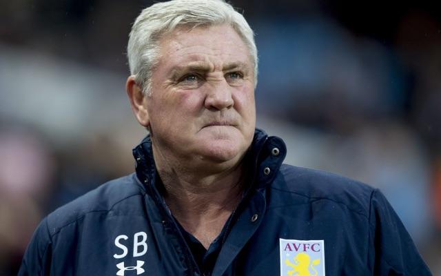 Steve Bruce in Aston Villa tracksuit