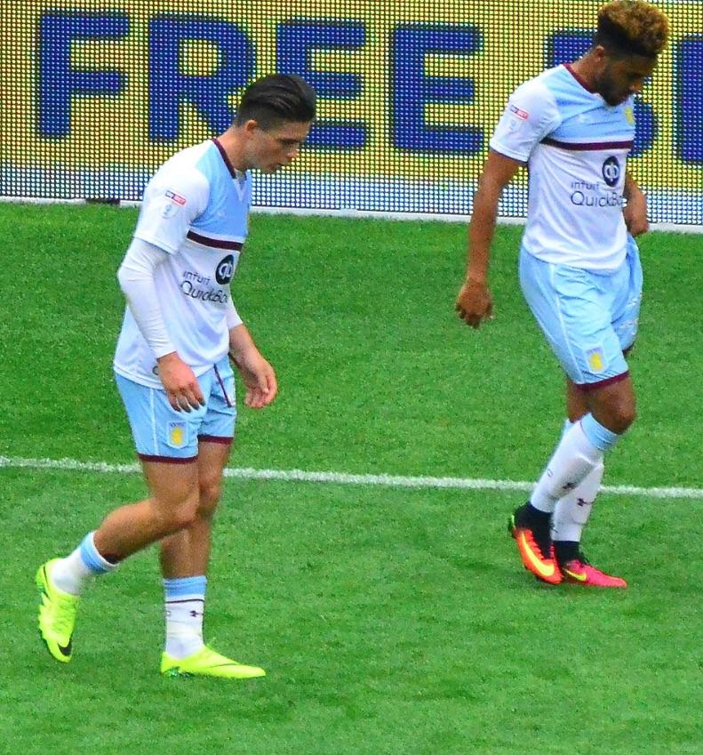 Jack Grealish and Jordan Amavi of Aston Villa