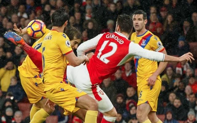 Olivier Giroud scorpion back-heel goal v Crystal Palace