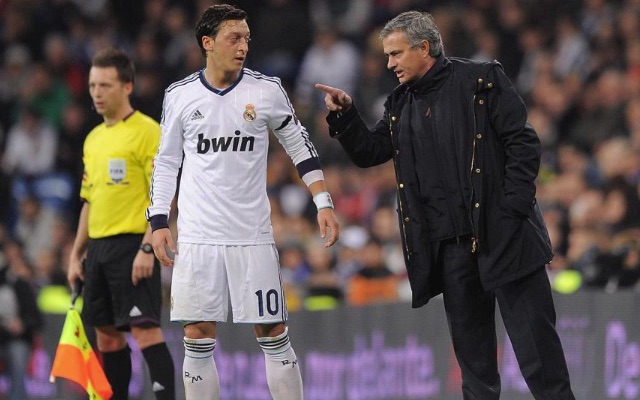 Mesut Ozil and Jose Mourinho at Real Madrid