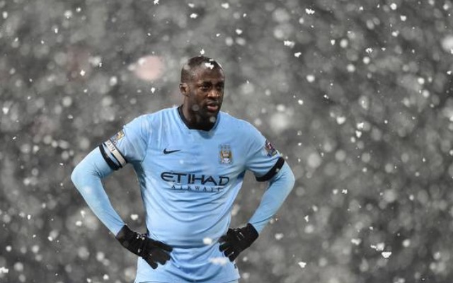 Yaya Toure in the snow