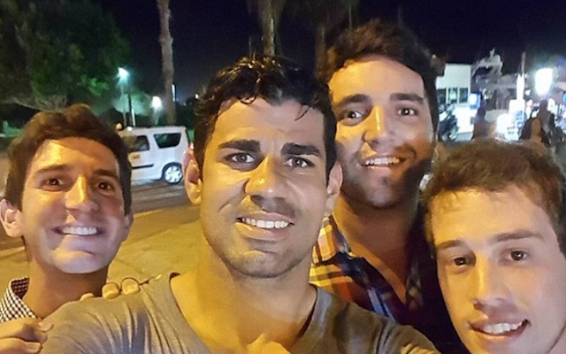 Diego Costa on holiday