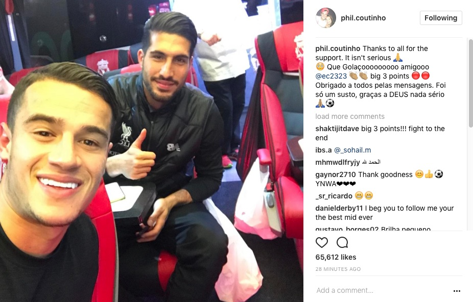 Coutinho injury update