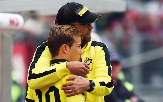 Mario Gotze and Jurgen Klopp