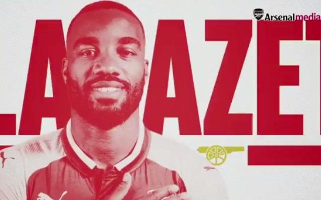 (Video) Alexandre Lacazette Pats Gunners Badge As Arsenal