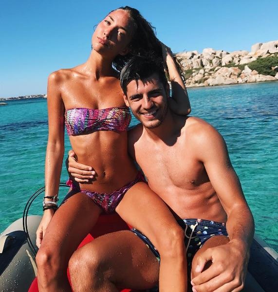 Alvaro Morata and wife Alice Campello on holiday