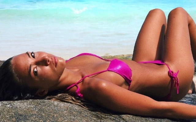Alvaro Morata wife Alice Campello in a pink bikini