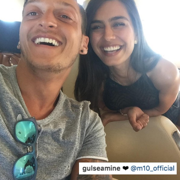Mesut Ozil girlfriend Amine Gulse shows love for Arsenal star on Instagram