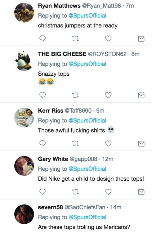 Spurs fans hate new Nike training tops
