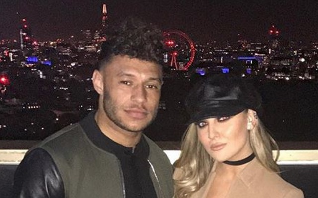 Alex Oxlade-Chamberlain with girlfriend Perrie Edwards