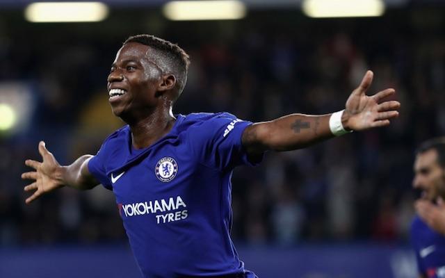 Charly Musonda celebrates first Chelsea goal