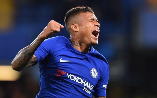 Kenedy celebrates Chelsea goal v Nottingham Forest