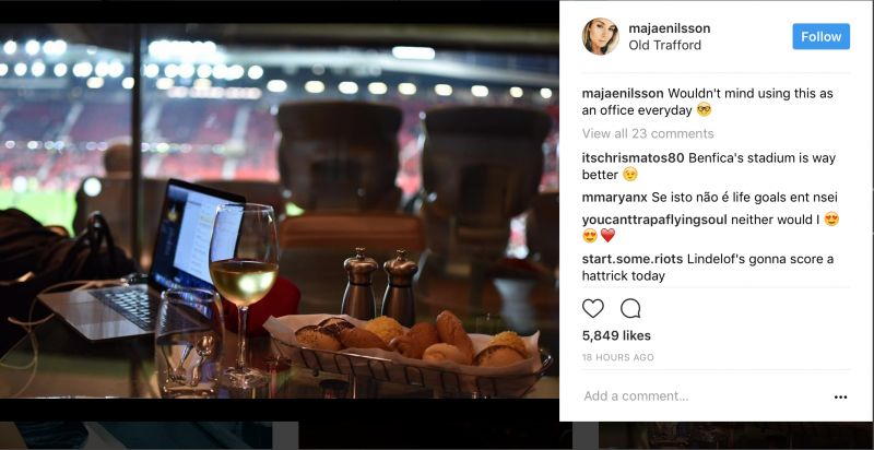 Maja Nilsson Insta post