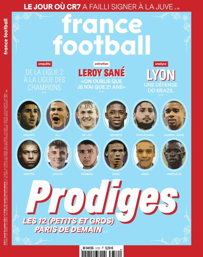 France Football top youngsters list