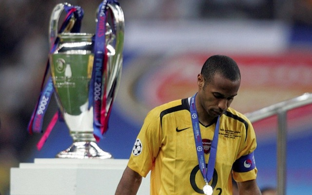 Thierry Henry after Arsenal lost Champions League final