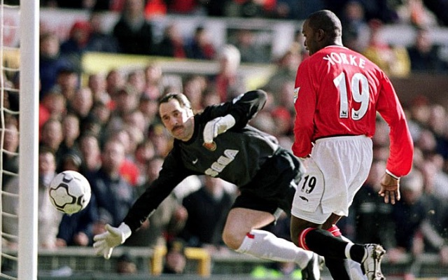 dwight yorke scored hat-trick v Arsenal