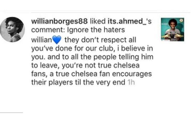 Willian instagram like