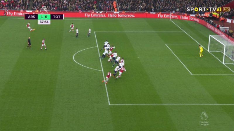 Mustafi goal v Tottenham