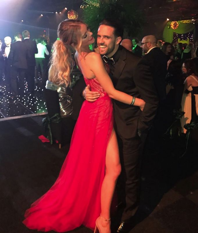 Georgia Gibbs and Danny Ings at the James Milner Foundation ball