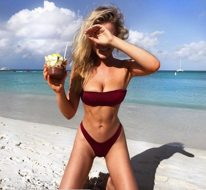 Georgia Gibbs looking hot on the beach