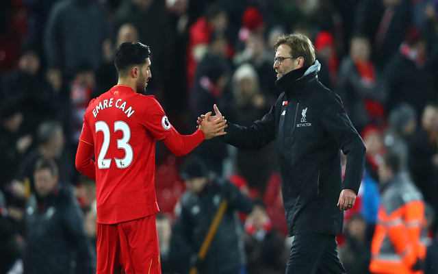 Klopp Emre Can Liverpool