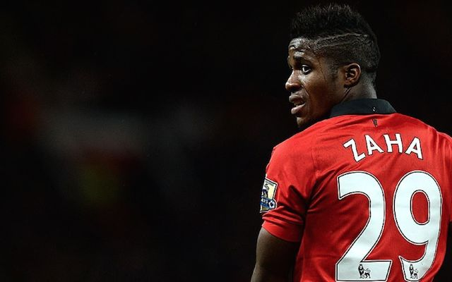 Wilfred Zaha failed to impress while at Manchester United between 2013-15.