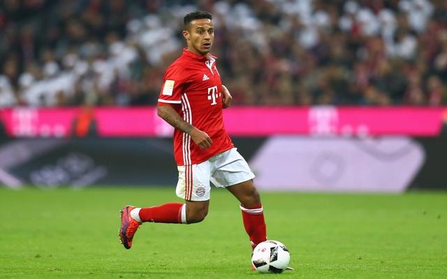 Thiago Alcantara in action for Bayern Munich
