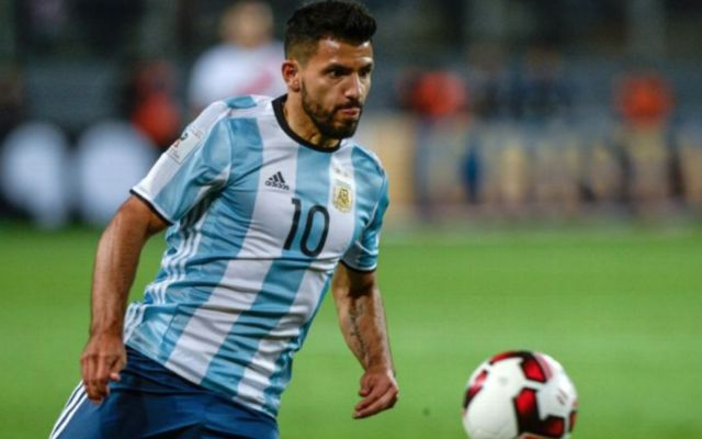 Aguero in action for Argentina - Argentina vs Italy TV Channel