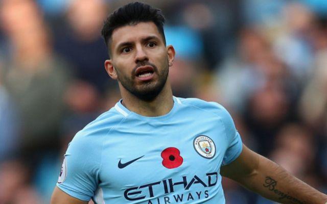 Sergio Aguero in action for Man City