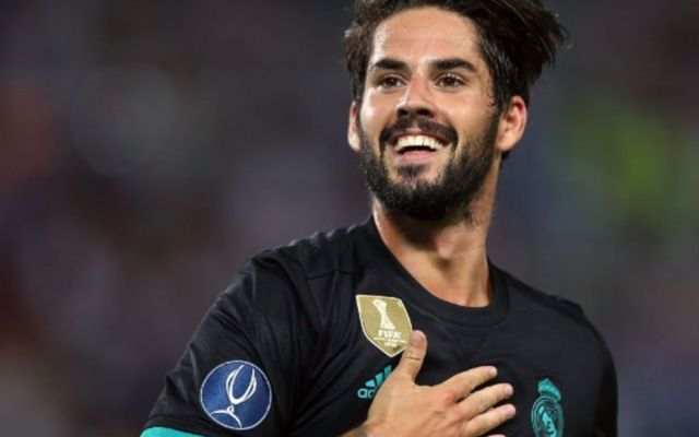Isco celebrating for Real Madrid
