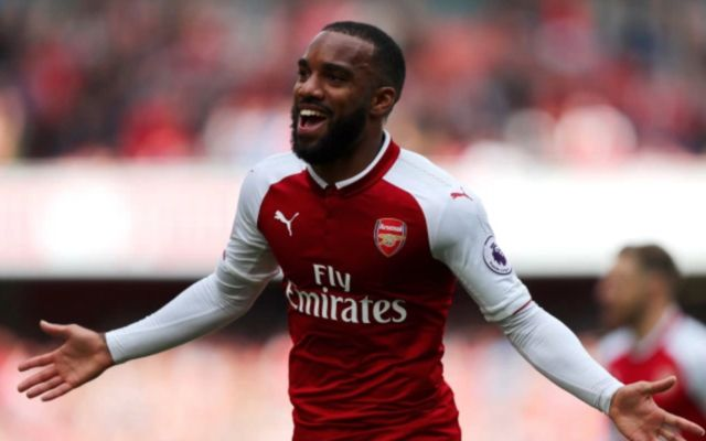 Arsenal forward Alexandre lacazette