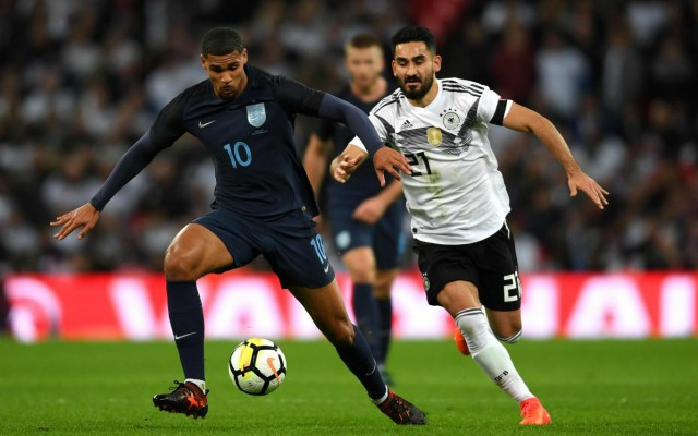 Loftus-Cheek in action for England against Germany