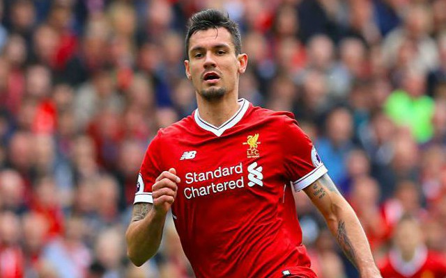 Dejan Lovren in action for Liverpool