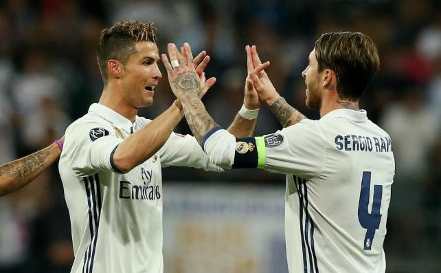Ronaldo and Ramos with Real Madrid