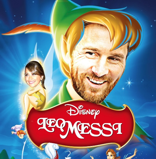 Lionel Messi as Peter Pan