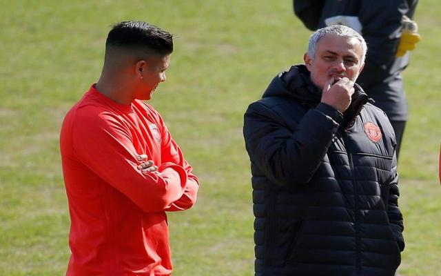 Mourinho Rojo Man Utd training