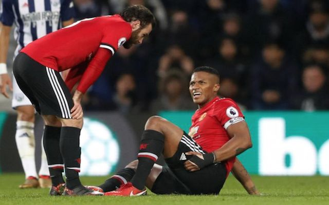 Antonio Valencia limped out of Manchester United's clash with West Brom on the 66th minute
