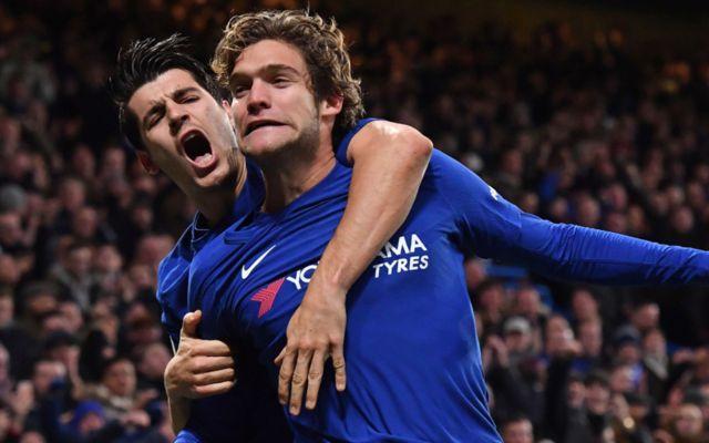 Chelsea's Alvaro Morata and Marcos Alonso