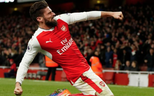 Arsenal forward Olivier Giroud