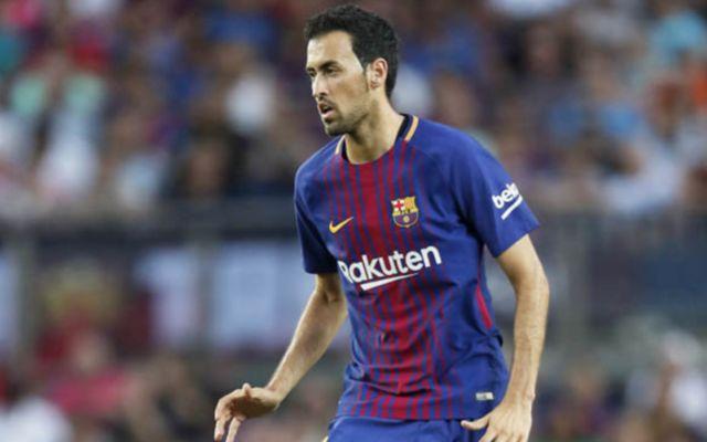 Barcelona's Sergio Busquets. What TV channel is Barcelona vs Roma