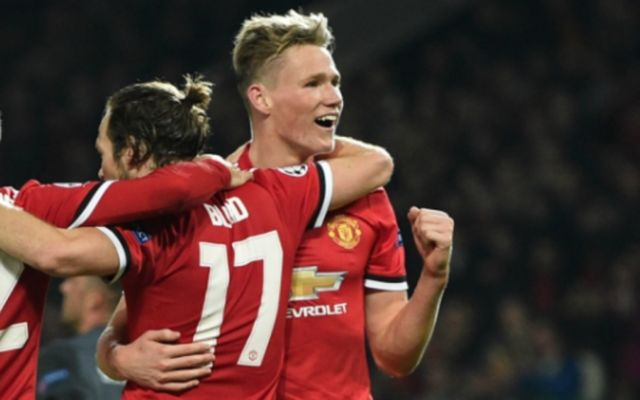 Man United midfielder Scott McTominay
