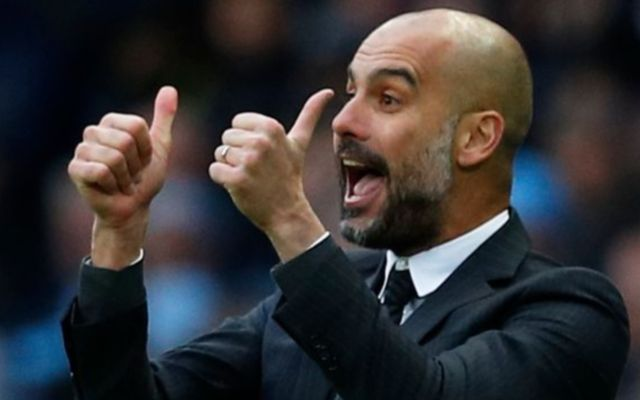 Man city boss Pep Guardiola