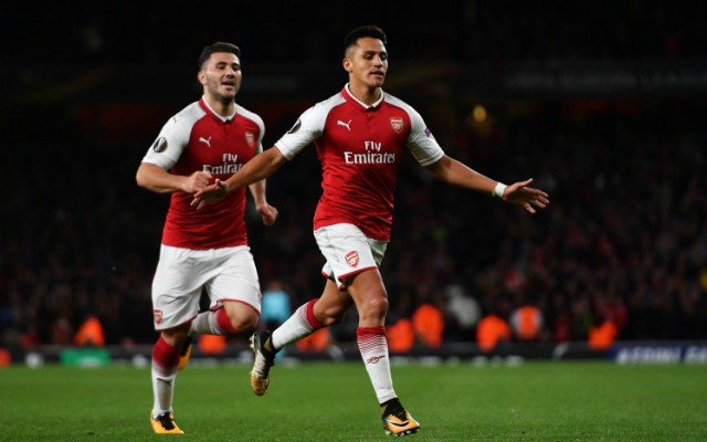 Alexis Sanchez scores for Arsenal in the Europa League